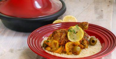 tajine de pollo estilo marroquí